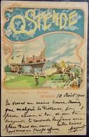 """BELGIQUE BELGIE Cpa Postcard - 1900 OOSTENDE OSTENDE - LITHO """"Tir Aux Pigeons"""" - Oostende"""