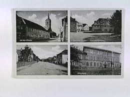 Sandweiler, Baden-Baden, 4 Ansichten, Mehrblid-AK, Gelaufen 1953 - Allemagne