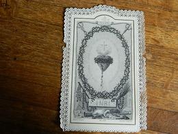 CANIVET AVEC DENTELLE::IMAGE RELIGIEUSE AVEC LE SACRE COEUR - Devotion Images