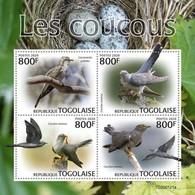 2020-04- TOGO -  CUCKOOS  BIRDS            4V      MNH** - Cuckoos & Turacos