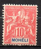 Col17  Colonie Moheli N° 5  Neuf X MH  Cote 7,00€ - Mohéli (1906-1912)