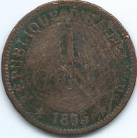 Haiti - 1 Centime - 1895 - KM48 - Haití