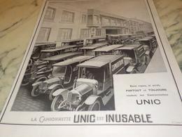ANCIENNE PUBLICITE LA REINE DES  CAMIONNETTE UNIC   1924 - Camions