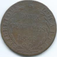 Haiti - 2 Centimes - 1846 - KM27.1 - Haití