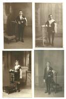 """Lot  8 CPA Photos """"Communiants """"costumes Et Brassard Pries Dieu - Communion"""
