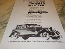 ANCIENNE PUBLICITE GRANDS RAIDS CHENARD & WALCKER  1931 - Camions