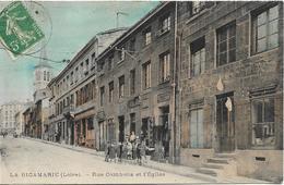 LA RICAMARIE Rue Gambetta Et L' Eglise - Autres Communes