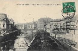 RIVE DE GIER Quai Fleurdelix Et Pont De La Ville - Rive De Gier
