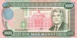 Turkmenistan P.8 1000  Manat 1995 Unc - Turkmenistan