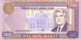 Turkmenistan P.9 5000  Manat 1996 Unc - Turkmenistan