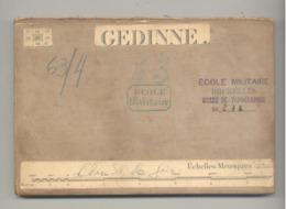 Carte De Géographie Toilée - GEDINNE -1882 - Levée En 1871  (b271) - Cartes Géographiques