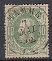 BELGIË - OBP - 1869/83 - Nr 30 - DCa (HAMME) - Coba + 8 € - 1869-1883 Leopoldo II