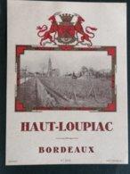 VIEILLE  ETIQUETTE HAUT- LOUPIAC  GENERIQUE - Bordeaux