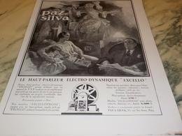 ANCIENNE PUBLICITE HAUT PARLEUR  PAZ SILVA  1931 - Música & Instrumentos