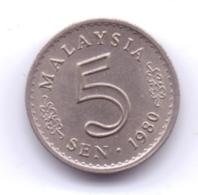 MALAYSIA 1980: 5 Sen, KM 2 - Malaysia