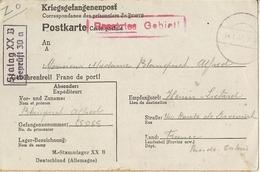 Camp De Prisonniers- Kriegsgefangenenlager -stalag XX B- Gepruft   30a- Henin Lietard - Guerre 1939-45