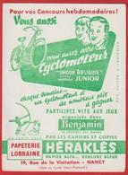 "Buvard Héraklés ; Papeterie Lorraine NANCY ; Cyclomoteur "" Simoun Arliguie "" ( Organisés Par Le Journal Benjamin ) - Moto & Vélo"