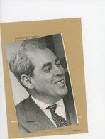 Photo De Presse Politique ALGERIE  / AHMED FRANCIS  Un Des Responsables Du  G.P.R.A  à  EVIAN LE 7 AVRIL 1961 - Identified Persons