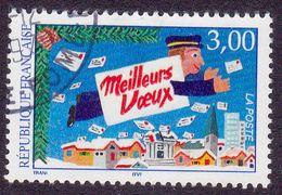 3125 France 1997 Oblitéré  Meilleurs Voeux Du Facteur Par Michel Trani - France