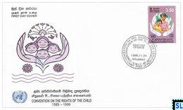 Sri Lanka Stamps 1999, Right Of The Child, FDC - Sri Lanka (Ceylon) (1948-...)