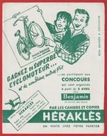 """Buvard Héraklés ; Cyclomoteur """" Simoun Arliguie """" ( Organisés Par Le Journal Benjamin ) - Motos & Bicicletas"""