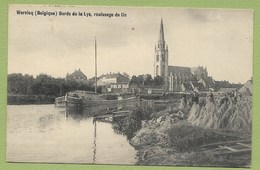 Wervicq Wervik Région Flamande Bords De La Lys Rouissage De Lin - église Saint Medard - Péniche - Wervik