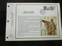 """BELG.1990 2389 : """" JOZEF CANTRE """" Filatelistische Kaart Zijde NL.(CEF), Gelimiteerde Oplage - 1991-00"""