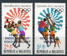 Maldive Islands Mi# 430-1 Postfrisch/MNH - Olympic Games München 72 - Malediven (1965-...)