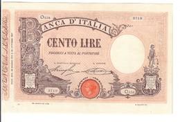 100 LIRE Barbetti Matrice Decreto 29 06 1915 Leggermente Pressato Bel Bb+  LOTTO 2991 - [ 1] …-1946: Königreich