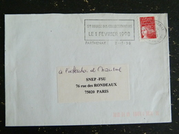 PARTHENAY - DEUX SEVRES - FLAMME 17e BOURSE DES COLLECTIONNEURS 1998 SUR MARIANNE LUQUET - Marcophilie (Lettres)