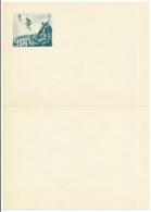 Briefpapier Mit Truppensignet - Gebrigsfüsiliere 9. DIV. (WK II) Schweiz - Unbeschrieben, 1 Mal Gefaltet, A5 - Documents