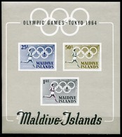 Maldive Islands Mi# Block 2 Postfrisch/MNH - Olympic Games Tokio 1964 - Malediven (1965-...)