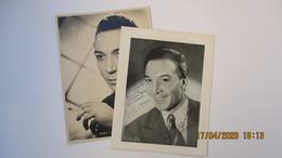 2 PHOTOS D' ANDRE CLAVEAU / 1 Avec ENVOI (peu Après-guerre) + 1 Du Même - Célébrités