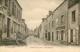 PHL 45 CHÂTILLON-SUR-LOIRE. Etude De Notaire Rue Franche 1944 (pli Coins Supérieurs) - Chatillon Sur Loire