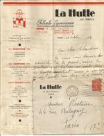 N°199 SEUL ST ETIENNE LOIRE LETTRE ENTETE LA HUTTE  + CORRESPONDANCE ENTÊTE SCOUT JAMBOREE 1933 LYON - Postmark Collection (Covers)