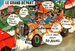 CPM - FANTAISIE - HUMOUR - ILLUSTRATION LY - Thème VOITURE - Edition AS De Coeur - Humor