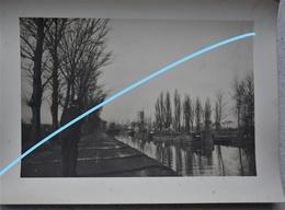 Photo Péniche SAINT OMER Pre 1914 Canal Kanaal Binnenscheepvaart Barge - Bateaux