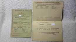 Durchlaßschein Reisepass Und Bescheinigung Farbenindustrie Bitterfeld Ausweis 1941 / 42 - Documents
