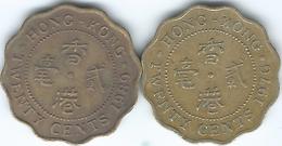 Hong Kong - 20 Cents - 1976 - KM36 & 1989 - KM59 - Hongkong