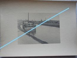 Photo Péniche Région SAINT OMER Pre 1914 Canal Kanaal Binnenscheepvaart Barge - Bateaux