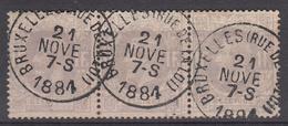 BELGIË - OBP - 1869/83 - Nr 36 - TO (BRUXELLES (Rue De La Loi) - Coba +/- 15 € - 1869-1883 Léopold II