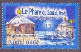 3294 France 2000 Oblitéré  Le Phare Du Bout Du Monde San Juan De Salvamento Cap Horn Et La Rochelle - Oblitérés