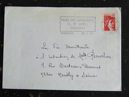 THOUARS - DEUX SEVRES - FLAMME FOIRE DES ANTIQUAIRES 1978 SUR SABINE - Marcophilie (Lettres)
