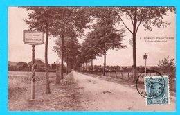 CPA BORNES FRONTIERES Entrée D'HESTRUD ( Belgisch Tolwezen ) Circulée - Ed. Miche-Gravez Négociant - 2 Scans - France