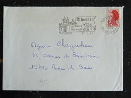 THOUARS - DEUX SEVRES - FLAMME TERRE DE BON ACCUEIL SUR LIBERTE GANDON - Marcophilie (Lettres)