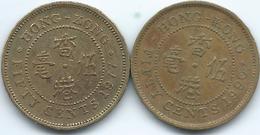 Hong Kong - 50 Cents - 1977 - KM41 & 1990 - KM62 - Hongkong