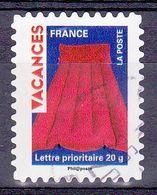 319 France 2009 Oblitéré Autoadhésif  Timbres Pour Vacances Matelas Pneumatique Rouge - Adhésifs (autocollants)