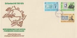 Enveloppe FDC  1er Jour   NOUVELLES  HEBRIDES  Sir  Roland  HILL   1979 - Rowland Hill