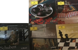 6 CD De La Collection Deutsche Gramophone/Le Monde (N°8/9/17/18/19/27) : Tchaïkovski-Vivaldi-Schubert-Schumann & Ravel) - Classique