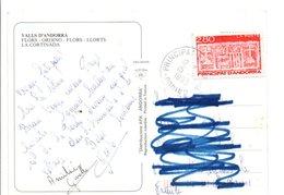 ANDORRE N°437 SUR CARTE POUR LA FRANCE 1980 - Cartas